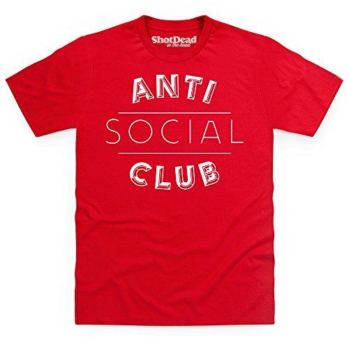 Anti Social Club T-Shirt, Herren Rot