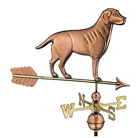 Good Directions 560PA Labrador Retriever Weathervane with Arrow, Polished Copper