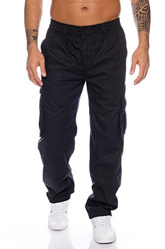 Fashion Herren Thermohose mit Dehnbund - mehrere Farben ID553, Größe:XXL;Farbe:Schwarz