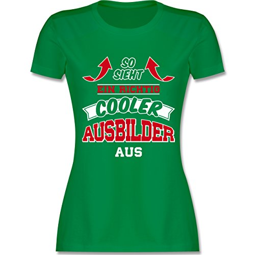 Shirtracer Sonstige Berufe So Sieht ein Richtig Cooler Ausbilder Aus Damen  TShirt Rundhals Grün