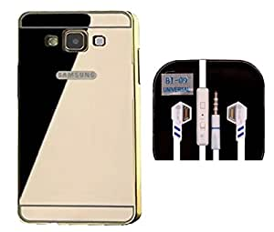 D'clair premium Luxury Metal Bumper Cover Case and Blue i Ear Phone For Samsung Galaxy J7