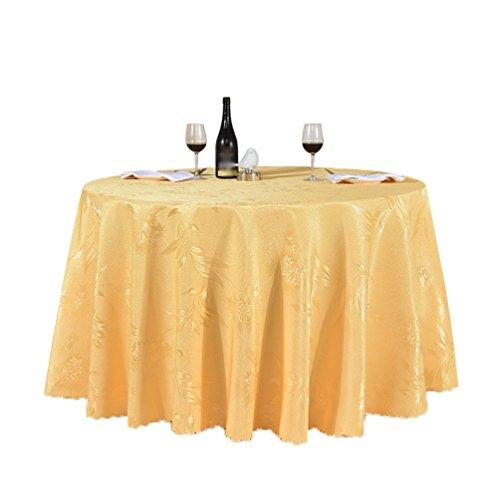 Heheja Rond Rectangulaire Carré Satin Nappe Mariage Restaurant fête Nappe Or 160*160cm