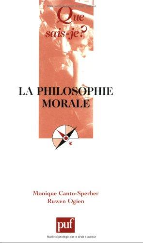 La philosophie morale
