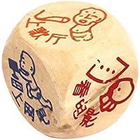 DealMux Bege Dos desenhos Animados impresso 3cm x 3 centímetros de Madeira do Jogo Party Casino Dice
