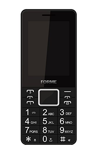 Forme W1+ Mobile Phone with,2.4-inch screen,Four sim (Black)