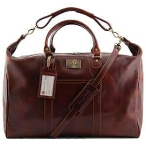Tuscany Leather - Sac de voyage en cuir - Marron - Homme