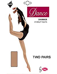 2 Pairs Silky Adult Womens Stirrup Shimmer Tights 2 Pairs
