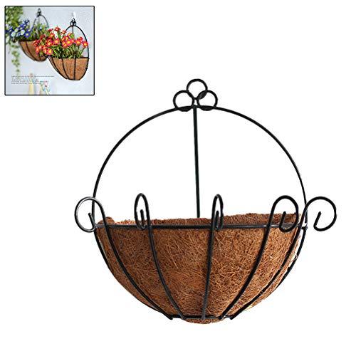 Hängeampel Kokos Blumenampel,Garten Kokosfaser Korb Futter Kokosfaser Verstellbare Ersatz Einlage Blumenkorb Wandhänge Pflanzgefäße für Garten Blumentopf