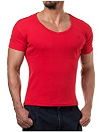 Young and Rich - Tee shirt col V plongeant Young and Rich 74 Rouge
