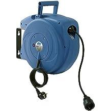 As-Schwabe 12611 - Avvolgitore di cavi automatico, 15 m, blu