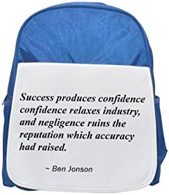 Success produces confidence; confidence relaxes industry, and negligence negligence negligence ruins the reputation which accuracy had raised. printed kid's Bleu  backpack, Cute backpacks, cute small backpacks, cute Noir  b   Up-to-date Styling  d673fd