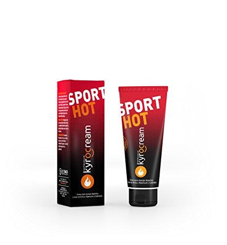 Kyrocream Sport HOT 120 ml Gel efecto calor - Crema preparación y recuperación muscular para deporte, con efecto frio - Ingredientes naturales árnica, hipérico, caléndula y extracto de Vainilla