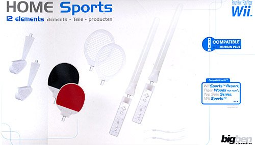 Bigben 12In1 Mega Sports-Pack Sport-Set Tennis-Schläger Golf Schwert Etc Für Wii WiiU Wiimote Controller