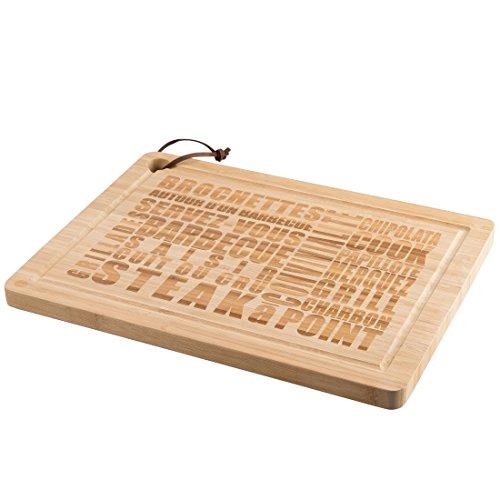 Levivo Schneidebrett groß aus Bambus, Holz Schneidbrett mit Saftrille, Servierbrett Bambusholz für...