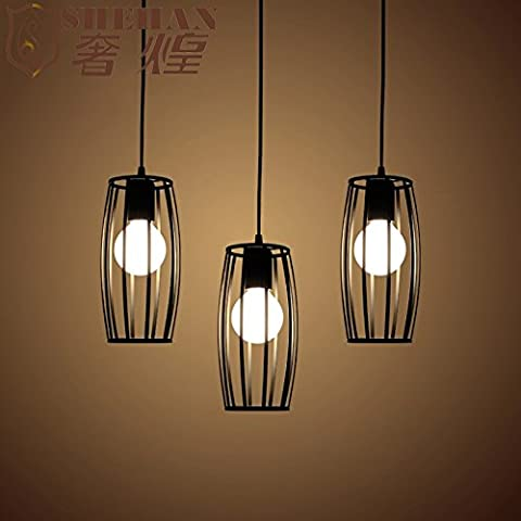 Tytk Il Nordic lampadari in ferro abbigliamento Cafe lampadarioLoftSeppia personalità bar industriale lampada corridoio,Nero3La lunghezza della testa Disc