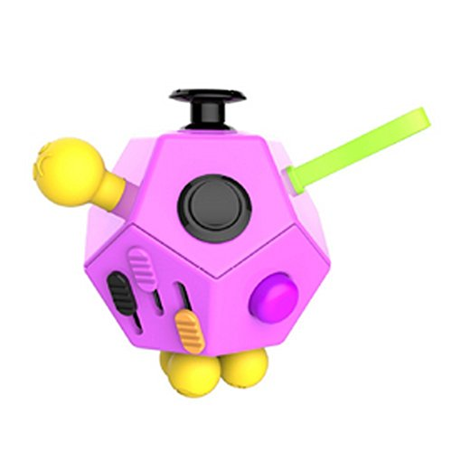 Fashion Fidget Cube 2 12-Side Fidget Cube Spinner Toy Stress Anxiety Relieves Stress and Anxiety and Relax for Children and Adults with ADHD ADD OCD Autism (Pink) -