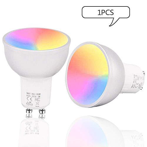GULEHAY Bombilla de luz inteligente GU10 WIFI
