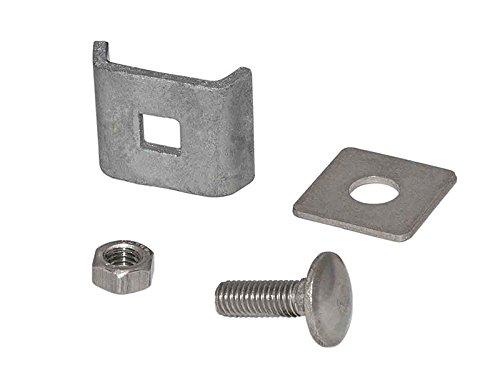 Verbinder in verzinkt, Gittermattenverbinder, Eckverbinder Doppelstabmatten