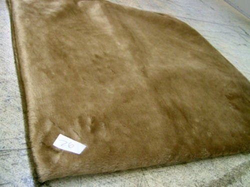 KosiPet® Mid Brown Faux Fur Self heating Thermal Luxury Pet Dog Cat Bed Mat With Fibre Pad (Medium)