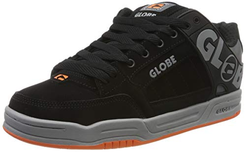 Globe Tilt, Scarpe da Skateboard Uomo, Nero (Black/Grey/Orange 20087), 42 EU
