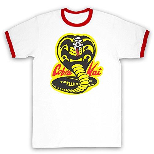 Inspiriert durch Karate Kid Cobra Kai Unofficial Kontrast / Ringer Shirt Weis & Rot