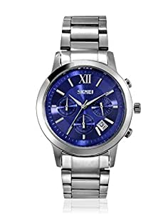 Skmei Formal Chronograph Analog Blue Dial Men's Watch - 9097CS