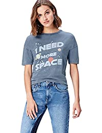 Amazon Brand - find. Women's Slogan Crew Neck T-Shirt