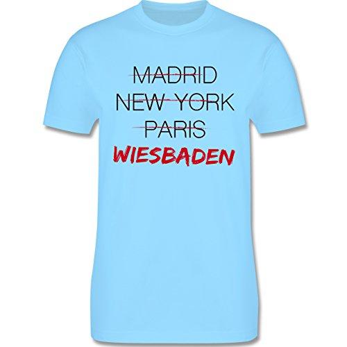 Städte - Weltstadt Wiesbaden - Herren Premium T-Shirt Hellblau