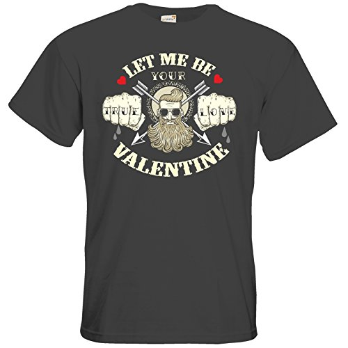 getshirts - RAHMENLOS® Geschenke - T-Shirt - Valentinstag Valentine True Love Dark Grey