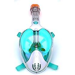 CHQSMZ Masque De Plongée Masques De Plongée en Masque Intégral Voir 180 Masque De Plongée sous-Marine pour La Plongée sous-Marine Anti-Buée Anti-Buée Rouge/Noir/Bleu/Vert S/M Odm-Green