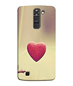 FUSON Designer Back Case Cover for LG K10 :: LG K10 Dual SIM :: LG K10 K420N K430DS K430DSF K430DSY (Love Heart With Secrets Cute Logic Blue Background red Heart)