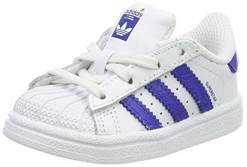 adidas Baby Jungen Superstar Sneaker, Weiß (Footwear White/Bold Blue/Bold Blue), 25 EU (Adidas Kinder Superstar)