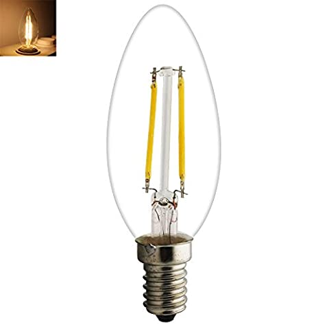 Retro E14LED Candle Shaped Bulb Filament Classic 2W 15Watt Replacement