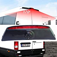 Cámara de freno de la parte superior del techo del tercer techo del coche Cámara de respaldo de la vista posterior de la luz de freno para Fiat IVECO Daily ...