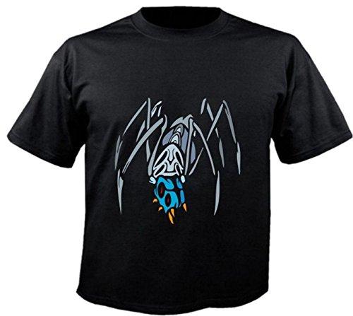 Motiv Fun T-Shirt Insekten Predatory Insects Ungeziefer Tier Motiv Nr. 6142 Schwarz