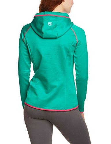 Ortovox Sweat-shirt à capuche pour femme En polaire et laine mérinos Avec logo Vert - Crazy Green