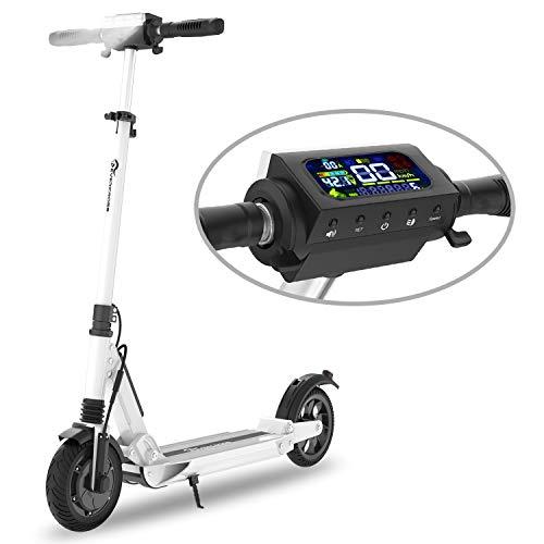 COLORWAY Trottinette électrique S1, patinette Pliable pour Enfant et Adulte Robuste avec LED et...