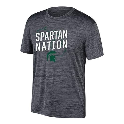 eLITe Top of The World Herren T-Shirt NCAA Poly Space Dye Invader, Herren, Men's Poly Space Dye Invader Tee, schwarz, Medium - Dye Herren T-shirt