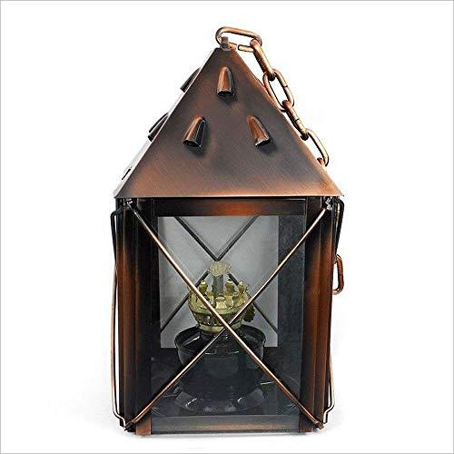 SDK Bronze Nostalgie Petroleumlampe Camping Beleuchtung Tragbare Brenner Band Lange Eisenkette Vintage Öl Licht Paraffin Lampe Einstellbare Docht -