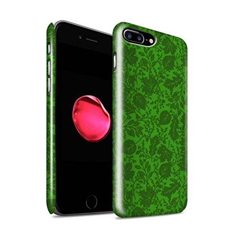 STUFF4 Glanz Snap-On Hülle / Case für Apple iPhone 8 Plus / Lila Muster / Blatt/Silhouette Muster Kollektion Grün