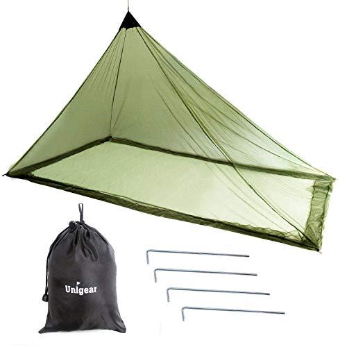 Unigear Mosquitera Camping Portátil 2 Personas para Acampa Campaña Hamaca Red Antimosquitos Mosquito Net 240X140X130CM (240X140X130CM)