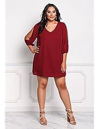 Amazon.it  taglie comode donna - Gonne   Donna  Abbigliamento 5ef91300e4e