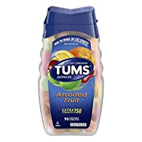 TUMS Antacid Chewable Tablets for Heartburn Relief, Extra Strength, Assorted Fruit, 96 Tablets