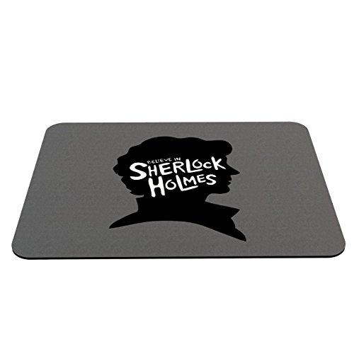 Preisvergleich Produktbild Stylotex Mauspad I believe in Sherlock Holmes - mit textiler Oberfläche