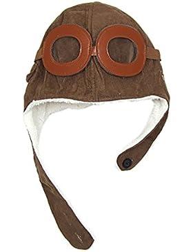Hosaire Pilotos Gorras Sombreros Capucha Niños Niñas Bebés de Algodón para Invierno (Cafe)