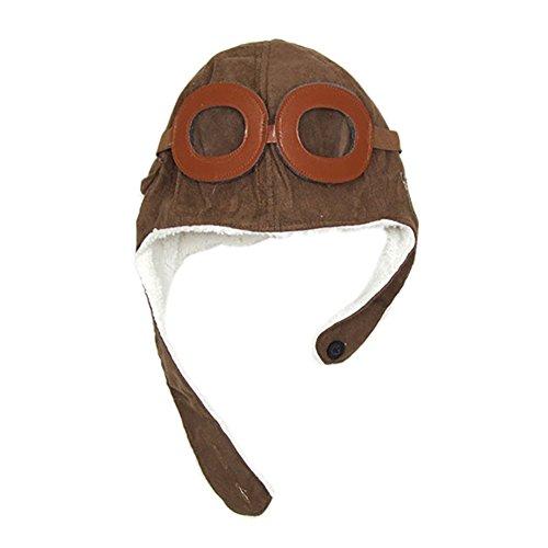MSYOU Kinder Hut Baby neuheit Winter Stricken Hut Hut Baby Hut für gilrs Jungen (Braun) (Braun)