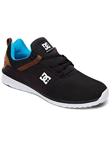 DC Shoes Heathrow M, Sneakers Uomo Noir - Black/Turquoise/White