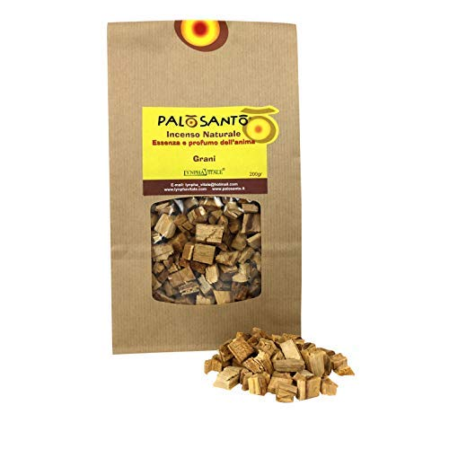 Palo Santo in Grains - Yellow Variety - 200 Gr - Original Shamanic Natural Incense to Burn - Rituals, Purification, Aroma of Good Humor, Positive energy