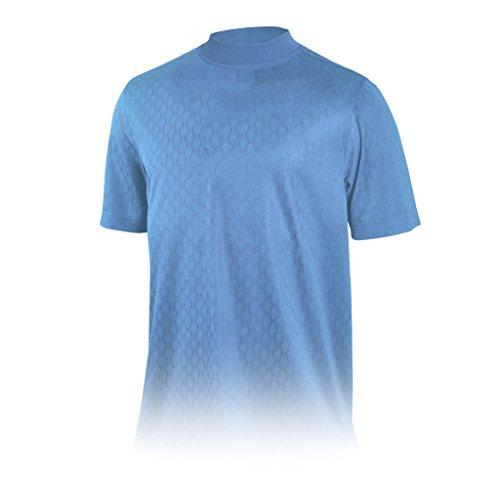 Diamant-herren-shirt (Monterey Club Herren Dry Swing Diamant Form Mock Hals Shirt # 3297(Della Blau, Klein))