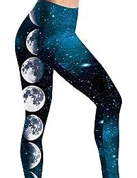 82ae0dce2dc550 Yoga Leggings Damen, Teenager Mädchen Bunte Galaxy Druck Yoga Hosen Stern  Hoher Push Up Leggins…